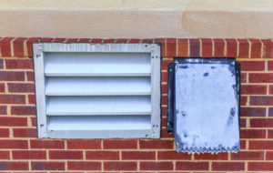 Industrial Laundry Room Dryer Vents